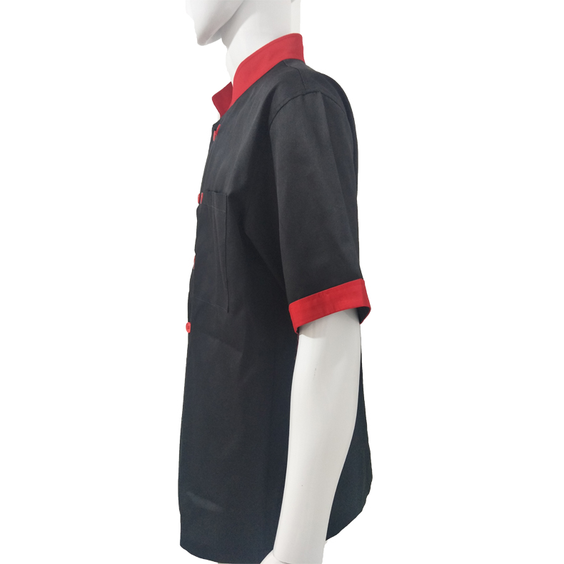 Customized Logo Short Sleeve Restaurant Hotel Kitchen Chef Jacket