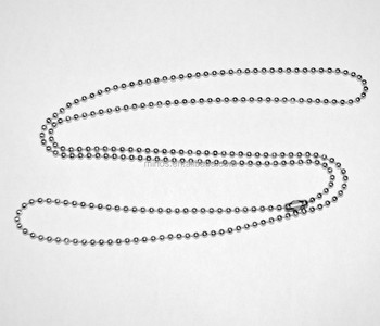 Stainless Steel 30 Inch Ball Chain Necklace For Military Small Dog Tag Chain d951b91836ba