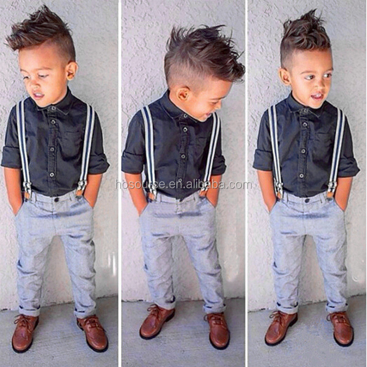Fashion style boys clothes summer boutique children clothing