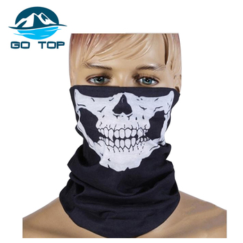 Most Popular Magic Multi Use Printed Seamless Black Skull Neck Warmer Sport Bandanas