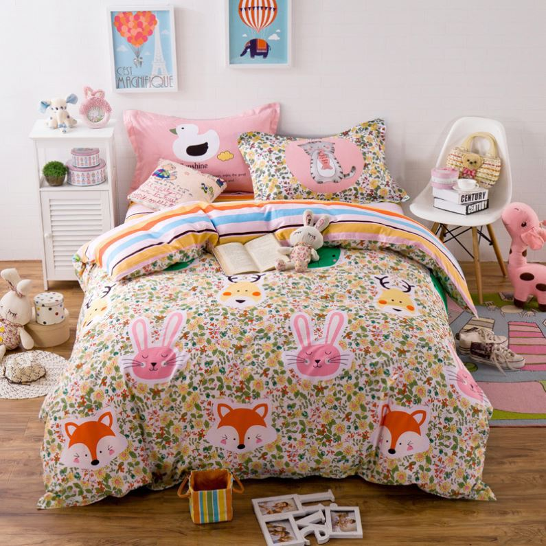 2017 new 3d animal prints bed sheet set cheap price