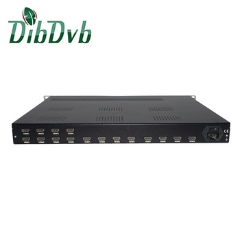 Cable tv digital headend 16 in 1 hd/sd encoder modulator for dvb-t system