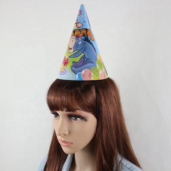 Cheap Party decorative Christmas Children Paper Hat/ birthday party decorative paper hats/High Quality Cone Paper Party Hat