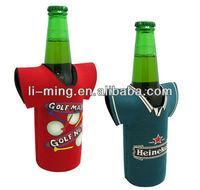 New promotioal products T-shirt shape cheap custom print neoprene bottle holder