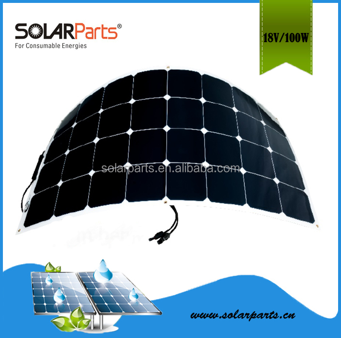 Cheap flexible PET laminated solar panel Price China 100W