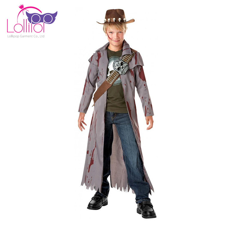 Cheap child masquerade costume hunter zombie cosplay costumes for sale