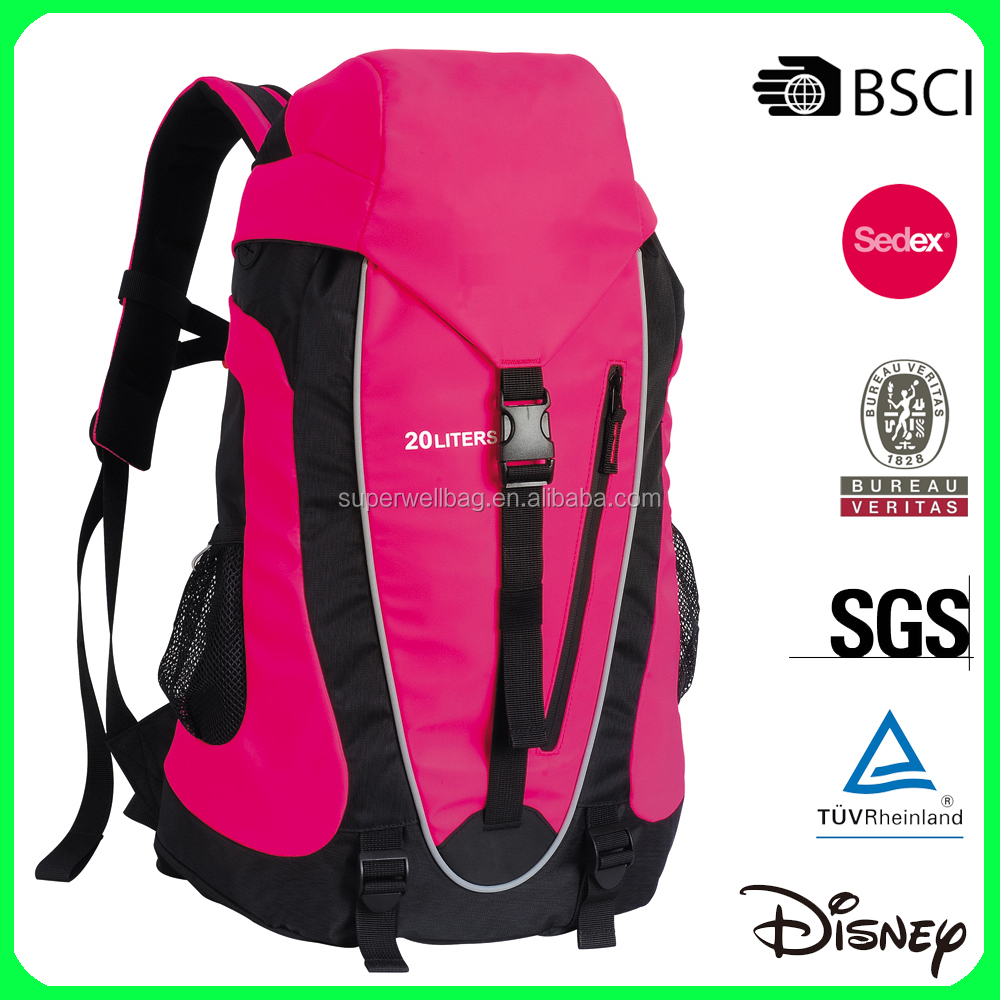Mixed color travel hiking backpack with rain cover