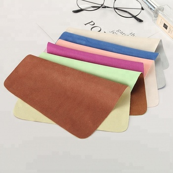 popular new design 2017 microfiber cleaning cloth different color on two sides