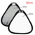 "32"" 80cm 2 in 1 white Silver Handheld Triangle Portable Folding Light Reflector for Photograph Flash Photo Studio dslr camera"