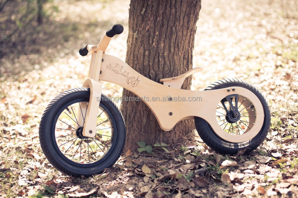 2017 high quality Wooden Balance Running Bikes as Baby Toy Bicycles, kid bicycle