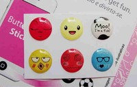 wholesale emoji clear custom epoxy resin sticker
