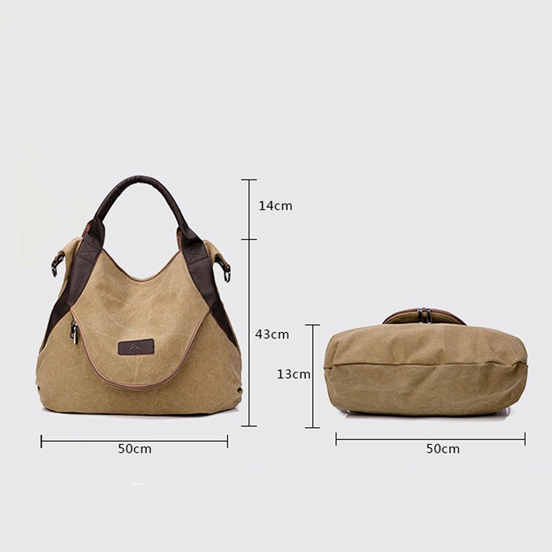 Women's Casual Canvas Hobos Bag