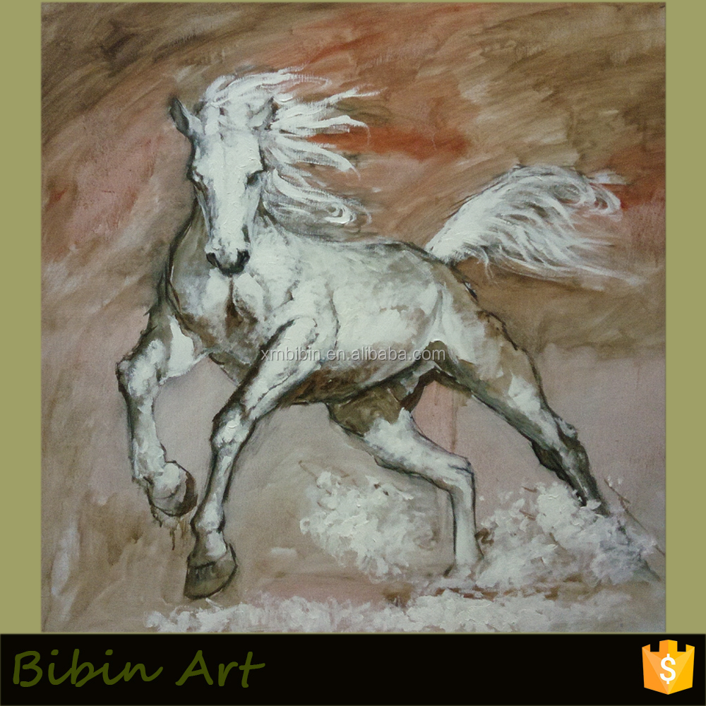 100% Handmade Original Horse Oil Painting on Canvas