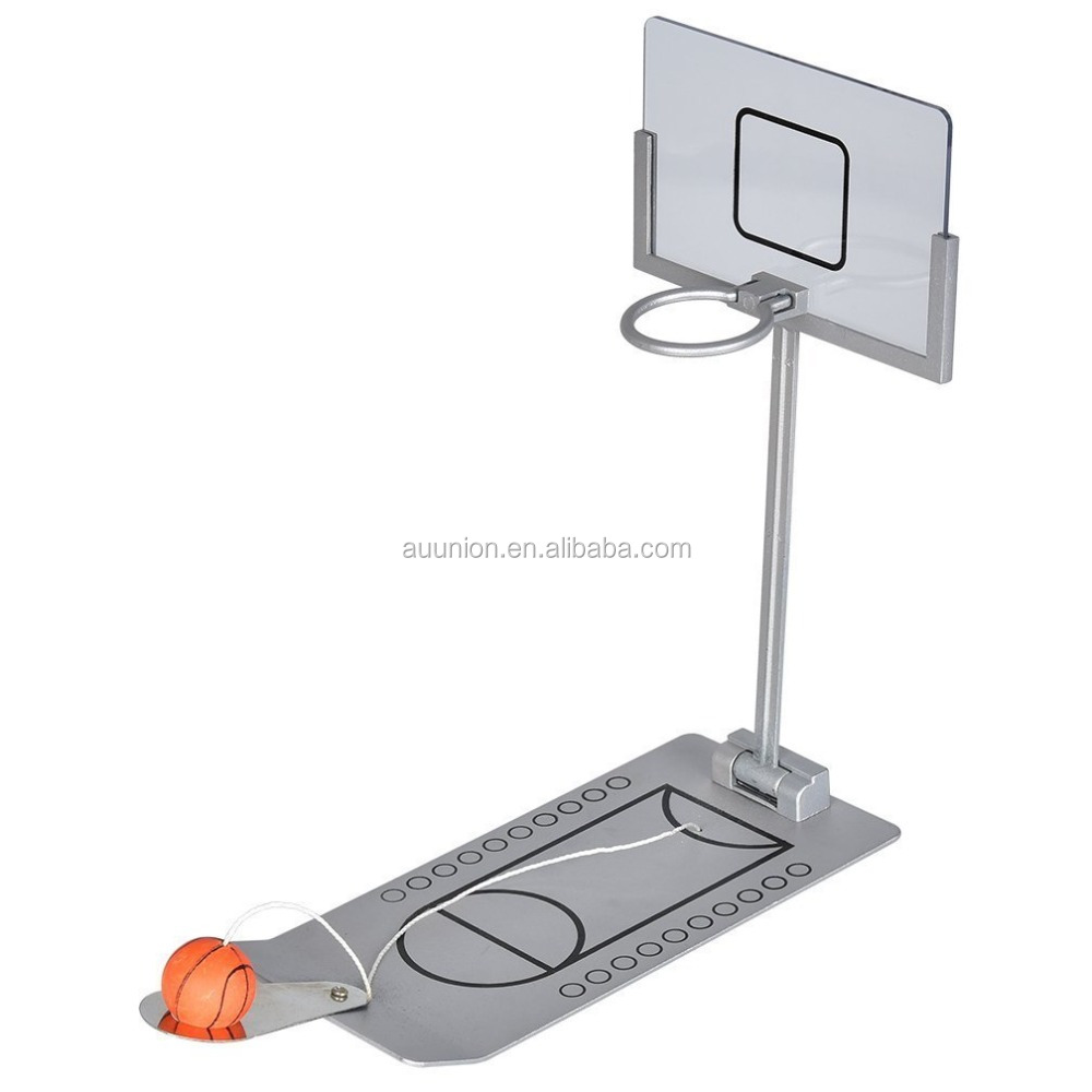 desktop Mini Basketball game/Mini Foldable Tabletop Spring Loaded Basketball Game
