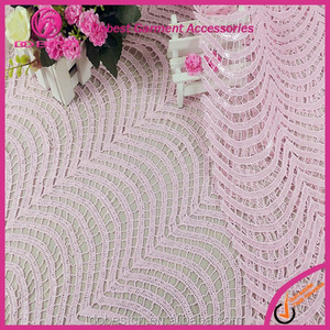 2017 Latest fabric lace pink sequin fabric lace for wedding dresses online white