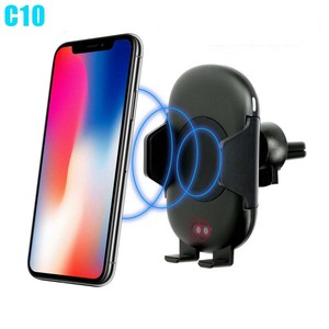 Fast Wireless Car Charger 10W Automatic Induction Car Mount Air Vent Phone Holder Cradle for iPhone 8 Plus X Samsung S9 S8