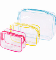 Factory Price Cheap Transparent Zipper Bath Wash Make Up Tote Travel Cosmetic Bag