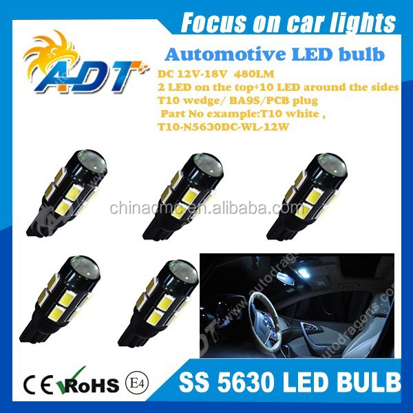 2015 newest T10 wedge/ BA9S/w5w DC12V 480lumen 5630 smd with lens auto indicator signal light door light side light