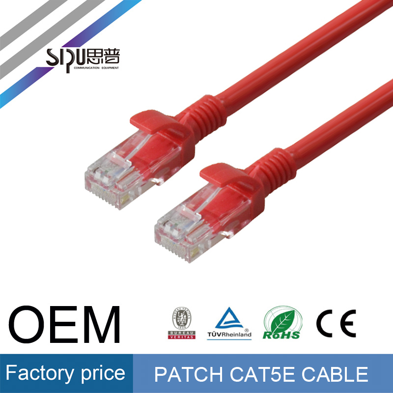 SIPU high speed 1 meter utp cat5e patch cable wholesale rj45 plug cat5 patch cord factory price computer cable for network