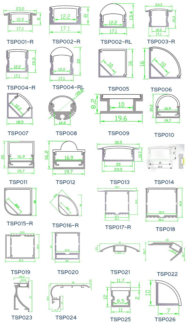 Aluminum Led Extrusion Linear;aluminium Led Profile Extrusion ...