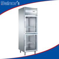 KG0.5L2/Supermarket upright manufacturer two-glass doors beverage display refrigerator