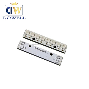 8 WS2812 5050 RGB 8 long strip LED full color drive color lamp development board
