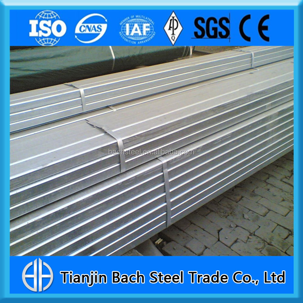 High Quality Rail Fence ERW Pre Galvanized Square Steel Pipe/GP Pipe