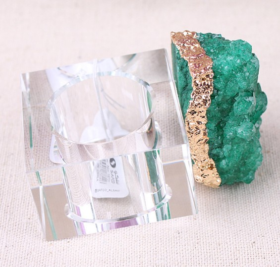 Available stock jeweled crystal Napkin ring