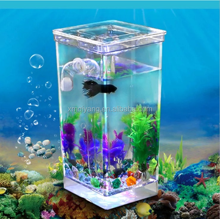 Plastic my fun fish self cleaning tank beta aquarium bowl