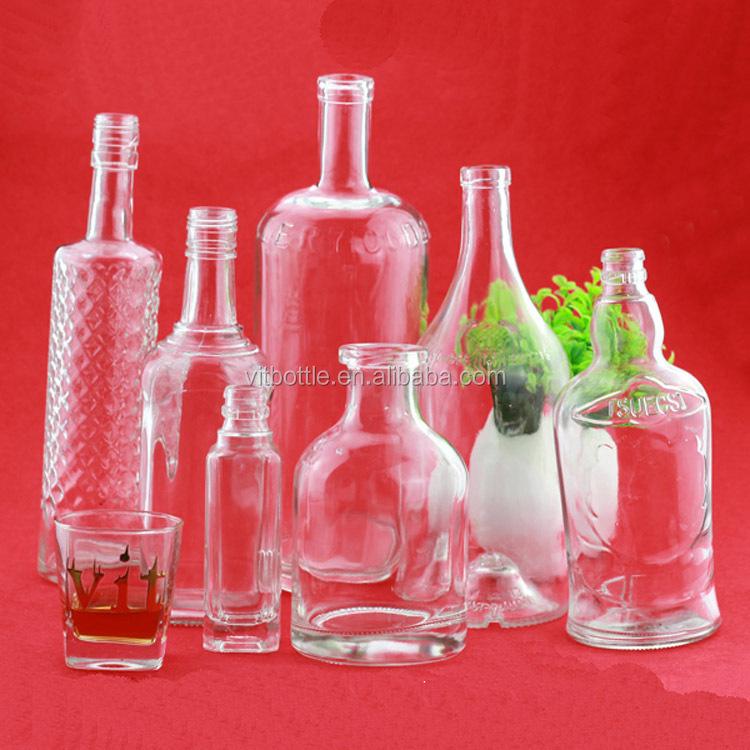 750ml Glass Wine Bottle Exotic Liquor Bottles Opaque White Glass ...