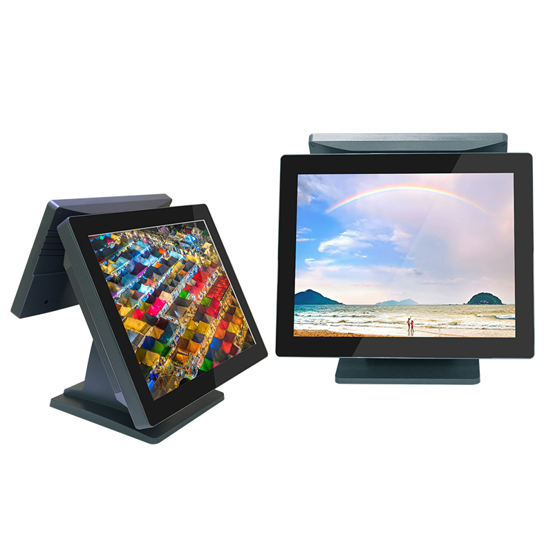 SYMTRUE Retail 15+11.6 inch display POS Monitor for Supermarket SHOP