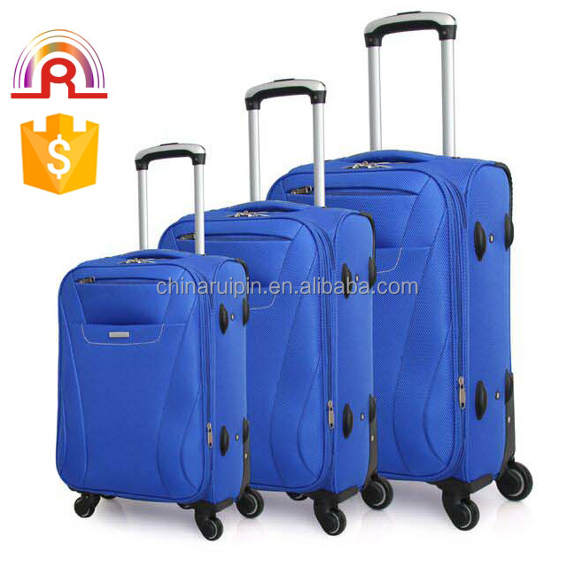 1680D Soft Nylon Rolling Spinner Trolley Luggage soft nylon travel luggage 3 piece set wheeled luggage suitcase