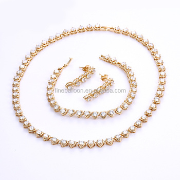 High quality 18K Gold Plated Jewelry Set for Wedding