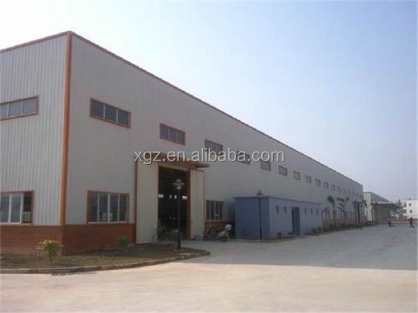 large span insulated prefab warehouse steel structure building