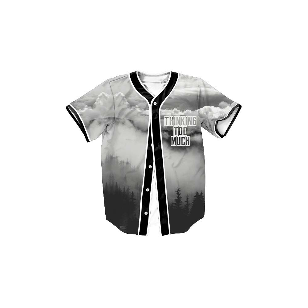 New design marca private label em branco baseball jersey camisas do poliéster
