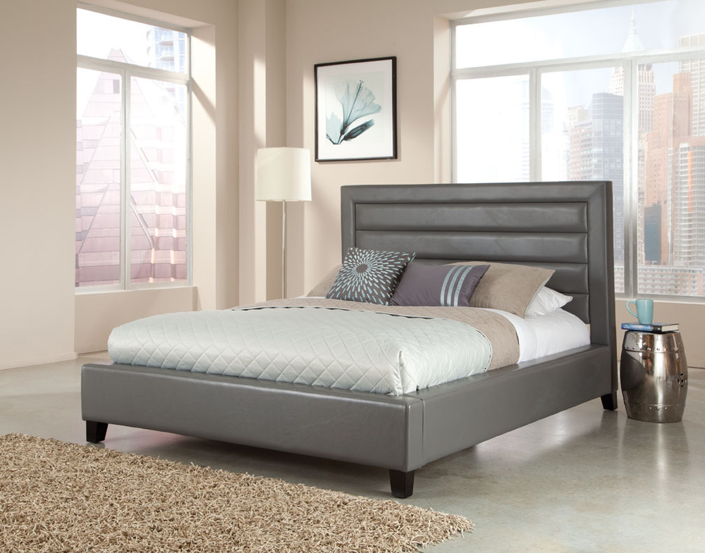 Simple double bed designs with box for Double bed design photos