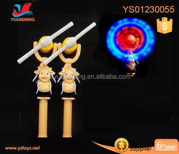 Hot Novelty Light Toys For Kids Led Lighting Toy 5 Colorful Flashing Musical Windmill Stick Characters