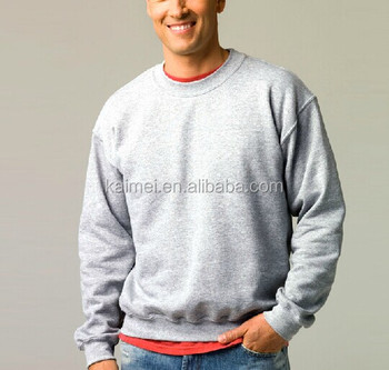 Oem 100% Cotton Fleece Knitting Sweater / Plain Blank Pullover ...