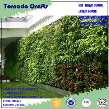 W Gzujok Outdoor Artificial Plant Wall Ornamental Ivy Plastic Fake Vertical Green