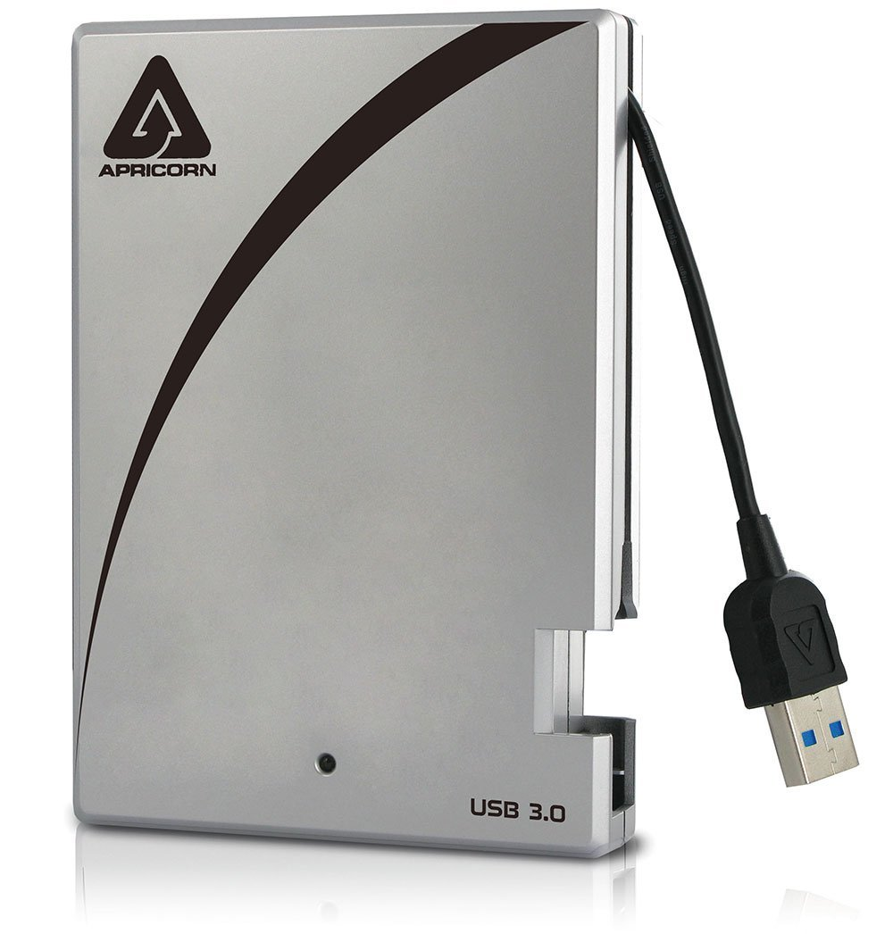 Apricorn Aegis Portable 3.0 USB 2 TB Drive with Integrated USB Cable A25-3USB-2000