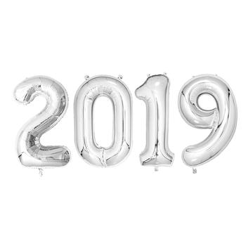 1c76c7e09 40 Polegada Balões Número 2019 Foil Número Balão De Hélio Para A ...