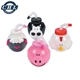 Food Grade Kids Cartoon Drinking Animal Shaped Cup Mug With Straw