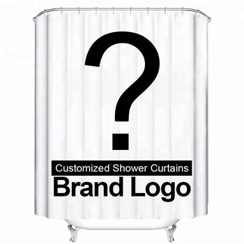 Customized Shower Curtain Waterproof Polyester Fabric 10 Sizes Shower Curtain For The Bathroom Dropshipping Support