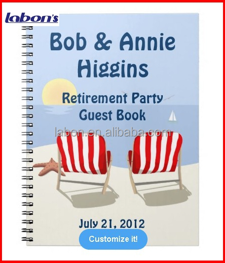 Beach Chair Retirement Party Spiral Notebook Cheap Wholesales