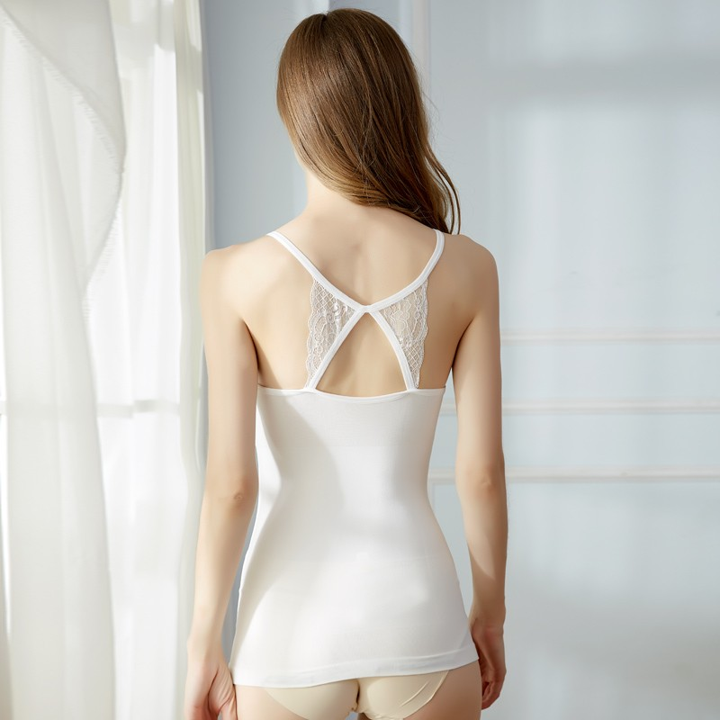 High Elastic Comfortable Bodyshaping Criss-cross Hot Girl Slimming Bulk Sexy Camisole Tops 13