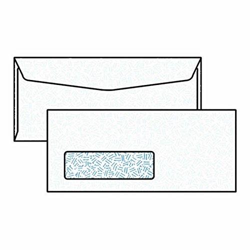 "#10 Digi-Clear Window Envelopes, 4-1/8"" x 9-1/2"", 24#, Black Confetti Tint, White, Laser Compatible (Box of 500)"