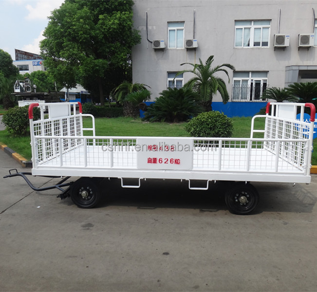Airport Steel Cart Express Cargo Trailer Tow Truck