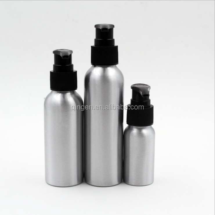 60ml 2oz silver Aluminum bottle /water mist pump spray aluminum bottle