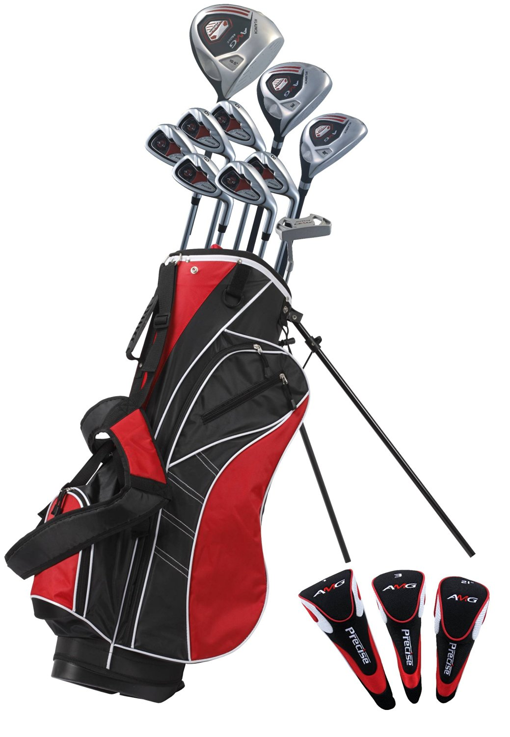 Precise AMG Men's Tall Complete Set (Red, Right Hand, +1-inch)