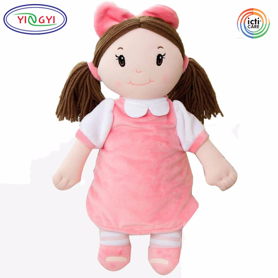 A659 Yellow,Black,White Skin Plush Embroidered Little Darlings Personalized  Baby Doll Stuffed Girl Toy Soft Custom Doll - Buy Custom Doll,Plush
